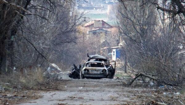 У населенного пункта Пески в пригороде Донецка. Архивное фото