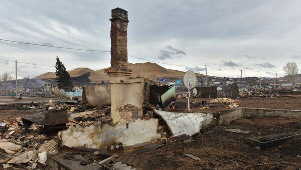 Последствия природных пожаров в селе Шира Республики Хакасия