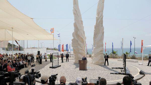 Мемориал Победы Красной Армии над фашистской Германией в городе Нетания, Израиль. Архивное фото