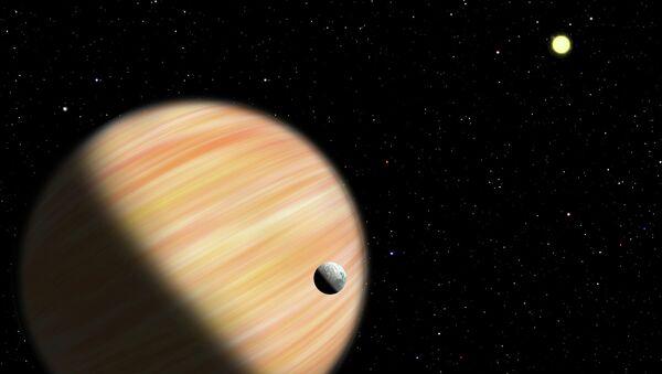 Так художник представил себе планету, найденную Спитцером в центре Галактики