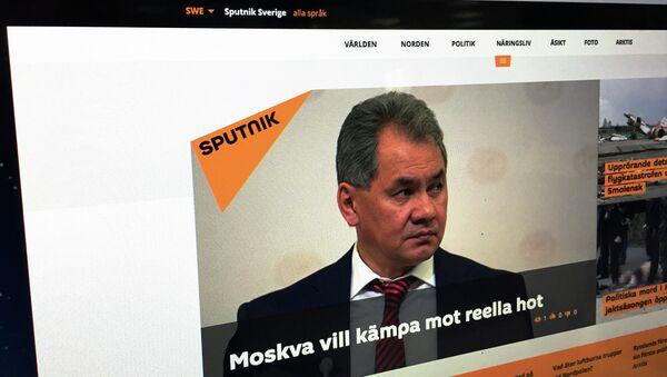 Страница сайта мультимедийного агентства Sputnik на шведском языке