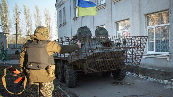Украинские военные в Волновахе