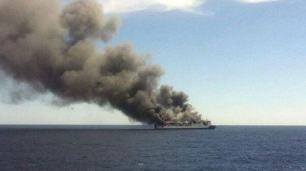 Пожар на пассажирском пароме в Средиземном море