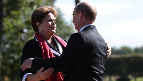 Президент Бразилии Дилма Роуссефф и президент Российской Федерации Владимир Путин