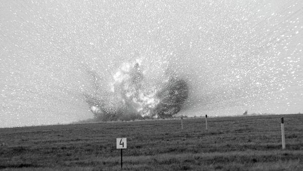 Уничтожение ракет РСМД на полигоне Капустин Яр. Архивное фото