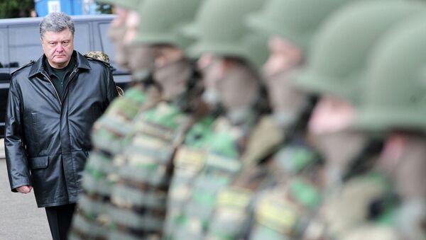 Президент Украины Петр Порошенко и армия Украины. Архивное фото