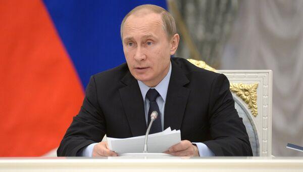 Президент РФ В.Путин провел заседание Комиссии по выполнению майских указов по соцсфере