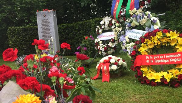 Памятник советским воинам в швейцарском Базеле. Архивное фото