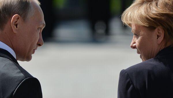 Церемония возложения цветов к Могиле Неизвестного солдата президентом РФ В.Путиным и канцлером Германии А.Меркель