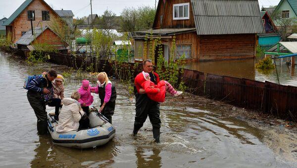 Подтопленные дачные участки в Первомайском районе Новосибирска