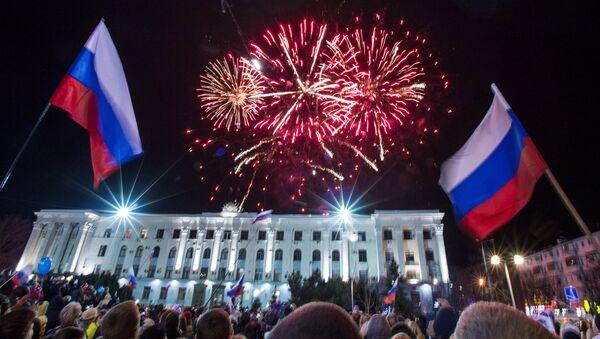 Празднование годовщины Крымской весны в Крыму. Крым
