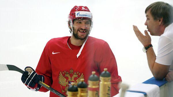 Тренировка сборной России по хоккею в Чехии
