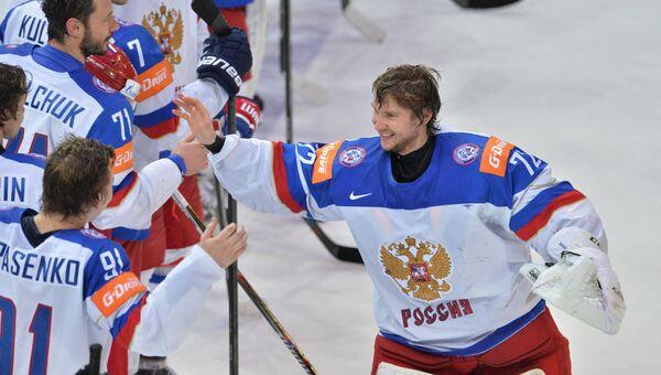 Хоккей. Чемпионат мира - 2015. Матч США - Россия. Архивное фото