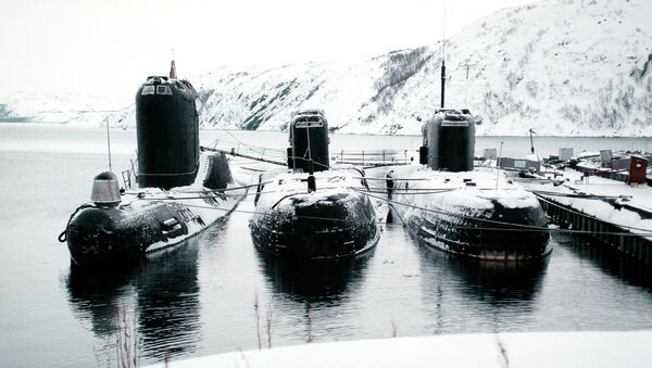 Дизельные подводные лодки на базе Северного флота. Архивное фото