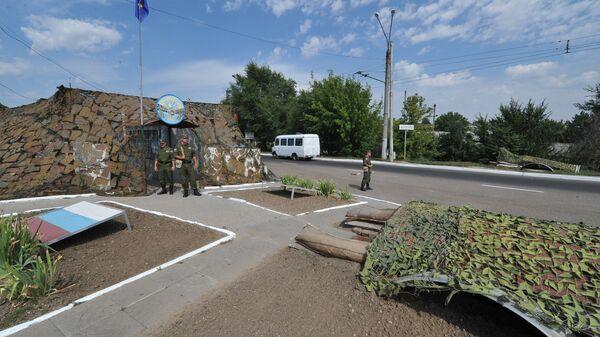 Блокпост российских миротворцев в Приднестровье. Архивное фото