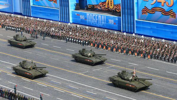 Военный парад в ознаменование 70-летия Победы. Архивное фото