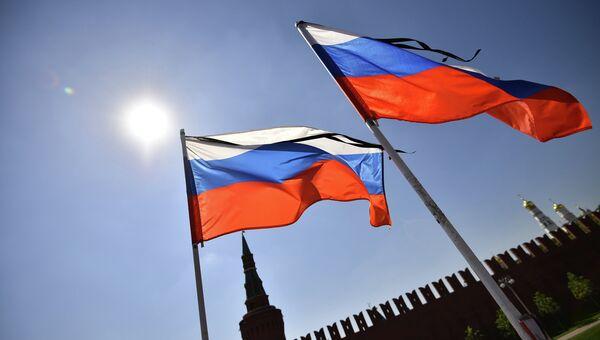 Флаги России. Красная площадь