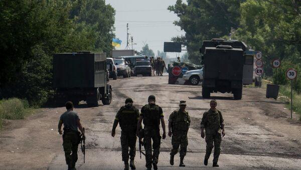 Бойцы украинского батальона Киев-1 под Марьинкой. Архивное фото