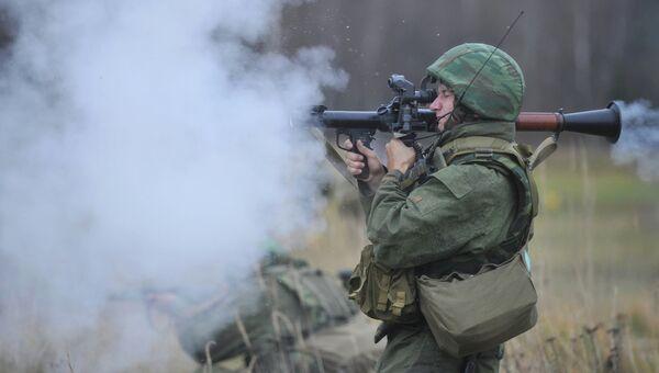Огневая подготовка военных Западного военного округа