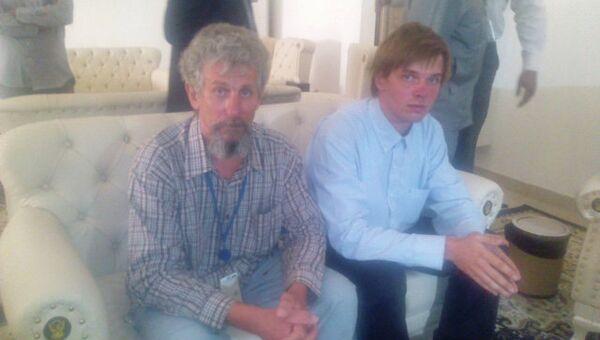 Освобожденные из плена в суданском Дарфуре россияне прибыли в Хартум