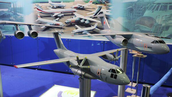 Макет оперативно-тактического военно-транспортного самолета ИЛ-112