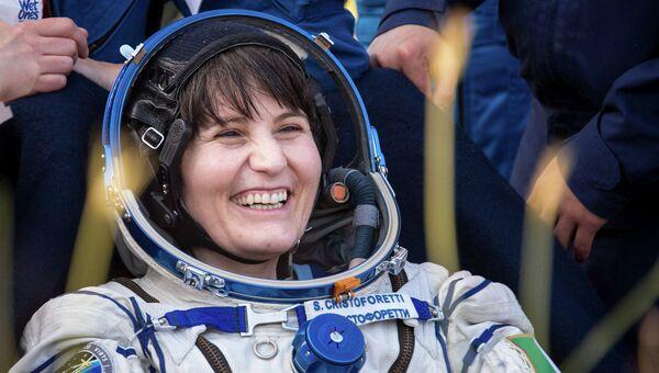 Астронавт ЕКА Саманта Кристофоретти, которая была в составе 43-й экспедиции на МКС. Архивное фото