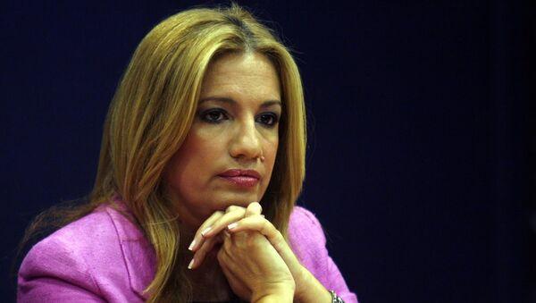 Новый лидер греческой партии ПАСОК Фофи Геннимата