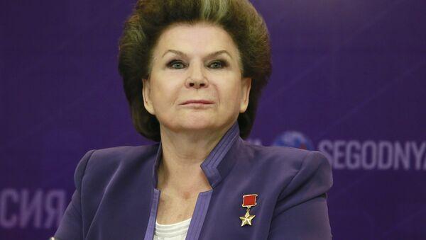 Валентина Терешкова  на пресс-конференции фонда «Память поколений» в МИА Россия сегодня. Архивное фото
