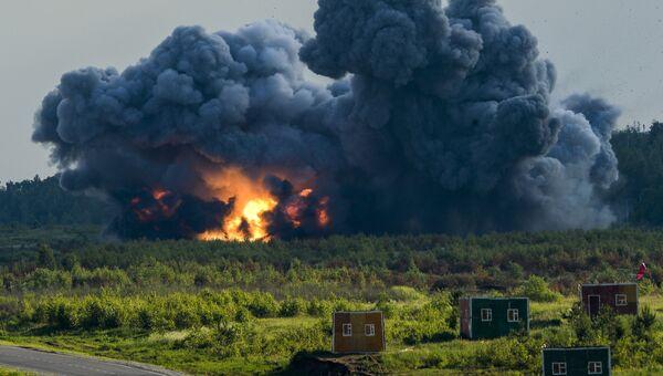 Взрыв во время демонстрационной программы Международного военно-технического форума Армия-2015