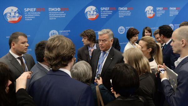 Президент ОАО Российские железные дороги Владимир Якунин на XIX Петербургском международном экономическом форуме