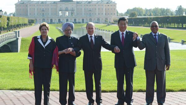 Общее фотографирование глав делегаций стран-участниц БРИКС