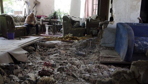 Последствия обстрела Донецка. 22 июня 2015