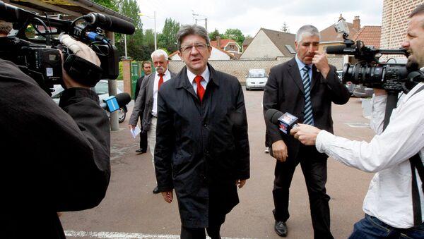Депутат Европарламента, член партии Левый фронт Жан-Люк Меланшон. Архивное Фото.