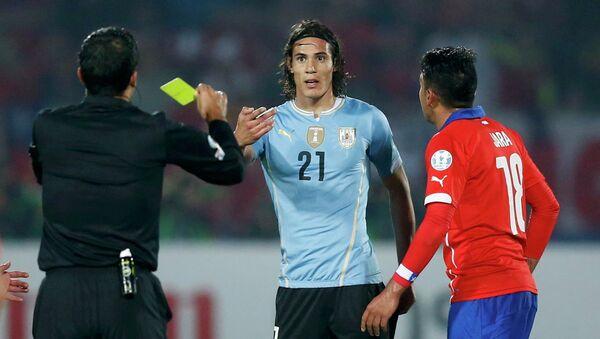 Футболист Кавани был удален за удар соперника в матче на Кубке Америки