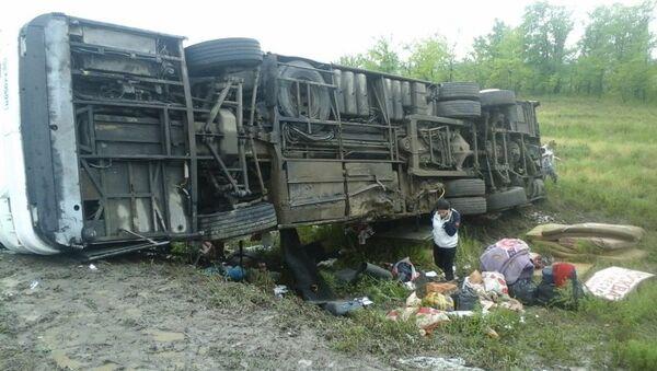 На месте ДТП с участием междугороднего автобуса в Волгоградской области. Архив