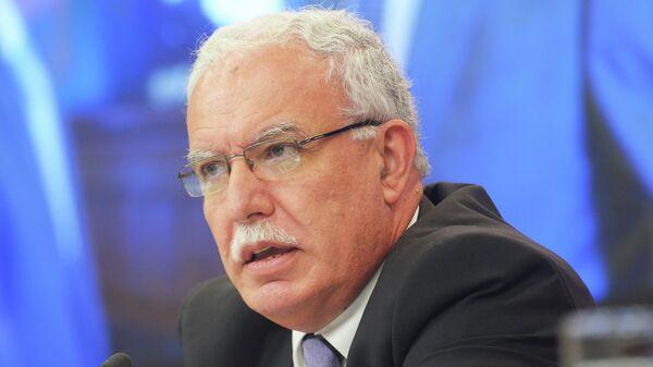 Глава МИД Палестины Рияд аль-Малики