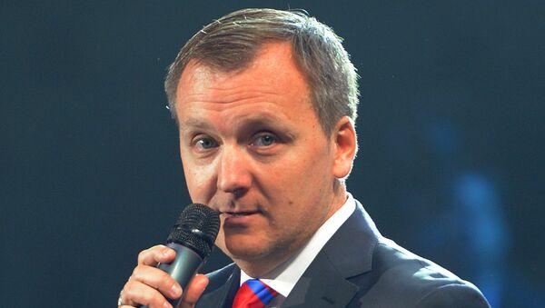 Генеральный менеджер ХК СКА Андрей Точицкий, архивное фото