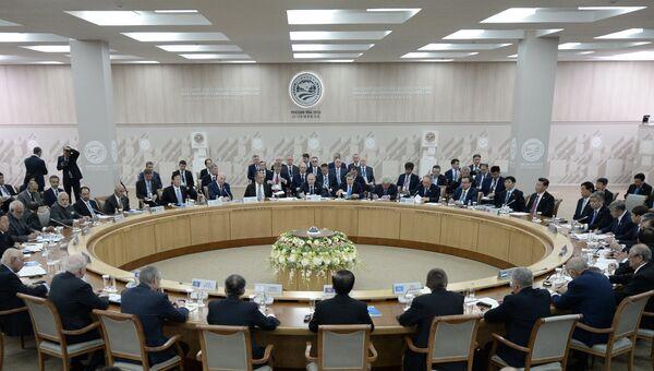 Заседание Совета глав государств-членов ШОС в расширенном составе. Архивное фото