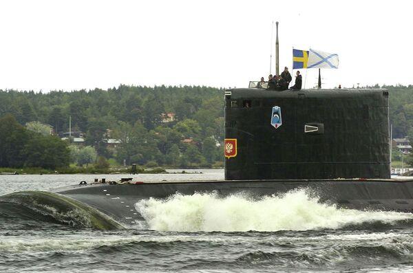 Дизель-электрическая подводная лодка проекта 877 Палтус в гавани Стокгольма