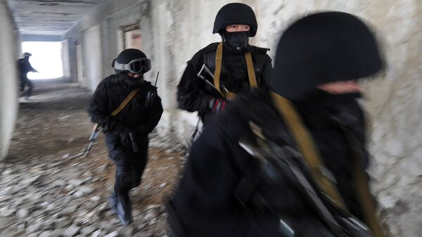 Сотрудники спецподразделения МВД Киргизии