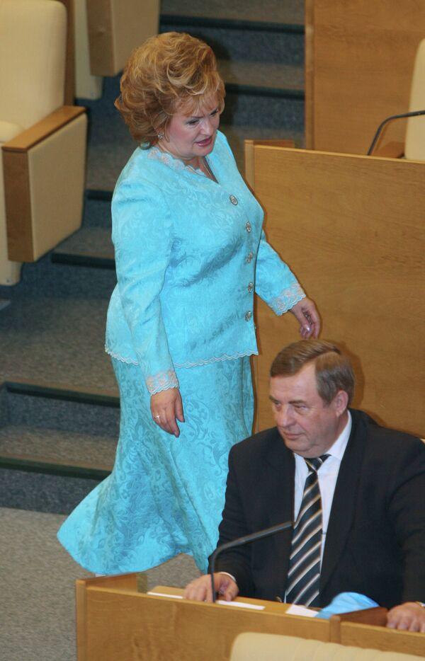 Вице-спикер Любовь Слиска и экс-спикер, а ныне депутат Геннадий Селезнев