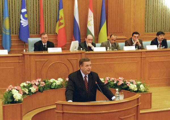 Председатель Государственной Думы РФ Геннадий Селезнев во время совещания глав контрольно-ревизионных органов стран СНГ в Счетной палате РФ