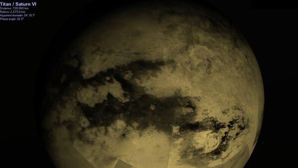 Так художник представил себе облака на Титане
