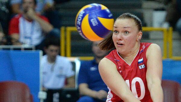 Игрок сборной России по волейболу Екатерина Косьяненко. Архивное фото