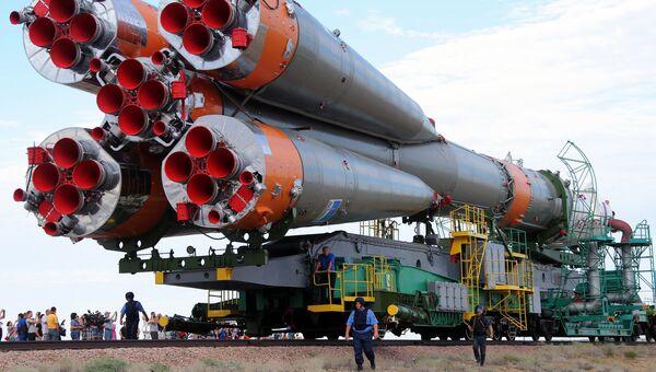 Ракета Союз ТМА-17Мна космодроме Байконур. Архивное фото