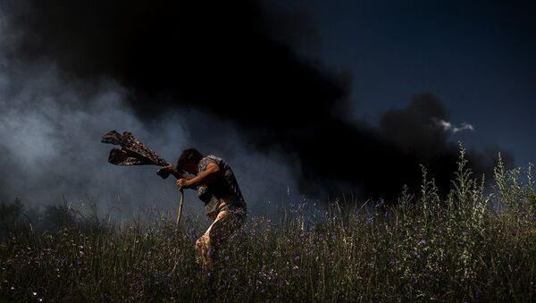 Работа фотографа Валерия Мельникова из серии Черные дни Украины