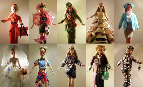 Различные варианты кукол в музее Барби, Тайвань