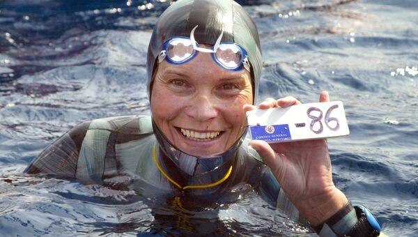 Чемпионка мира по фридайвингу Наталья Молчанова