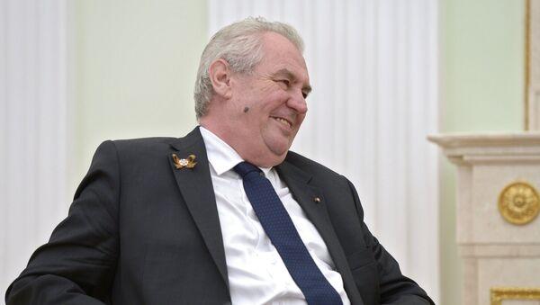 Президент Чешской Республики Милош Земан. Архивное фото