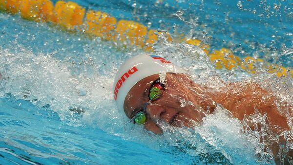 Никита Лобинцев (Россия) на XVI чемпионате мира по водным видам спорта в Казани